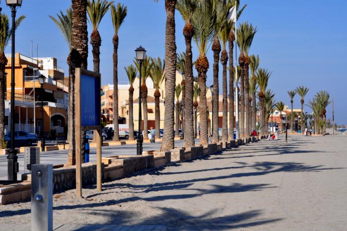 Los Alcázares beaches: Playa Carrión