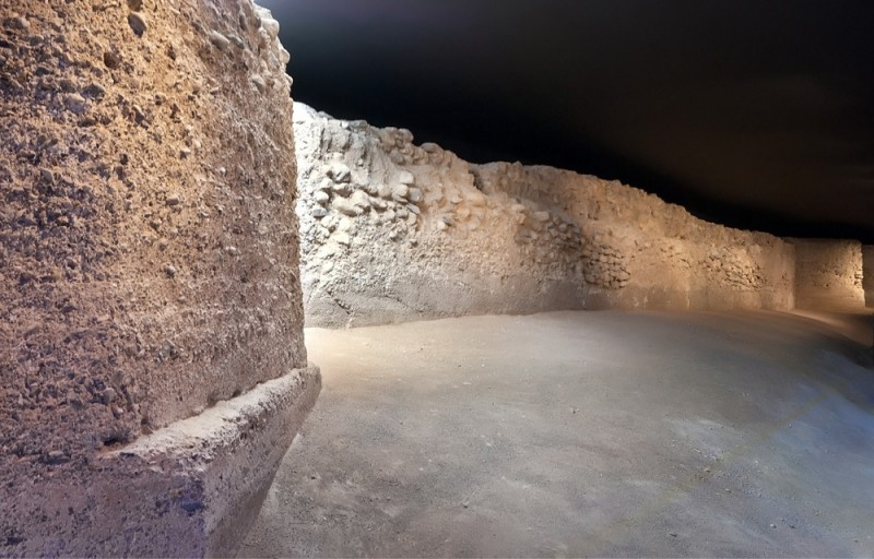 The MUDEM museum and the medieval wall of Molina de Segura