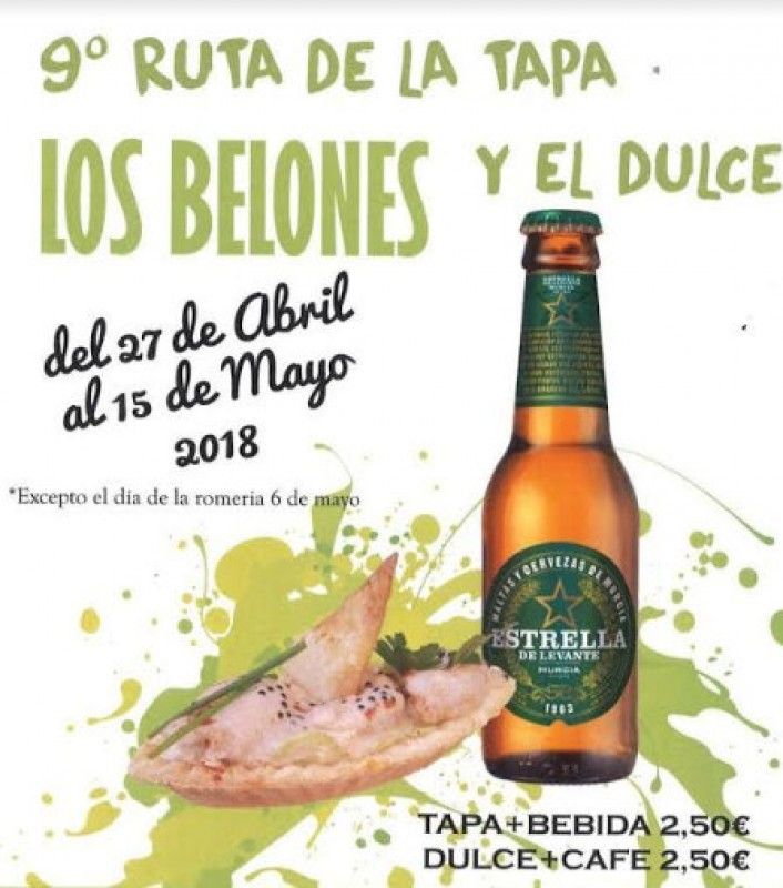 <span style='color:#780948'>ARCHIVED</span> - Until 15th May, tapas and desserts route in Los Belones