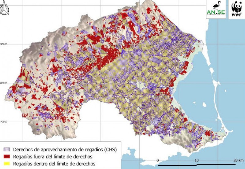 <span style='color:#780948'>ARCHIVED</span> - 20 per cent of irrigation farming in the Campo de Cartagena is illegal, say ANSE
