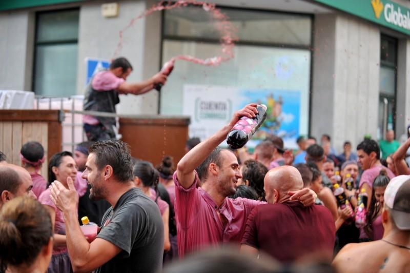 The streets of Jumilla flow red with wine as thousands are soaked in the annual Cabalgata