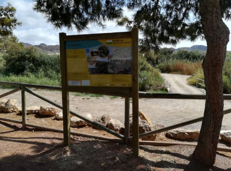 The Camino de la Romería walking route in Águilas