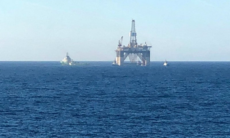 <span style='color:#780948'>ARCHIVED</span> - Giant drilling platform arrives in Escombreras for breaking up
