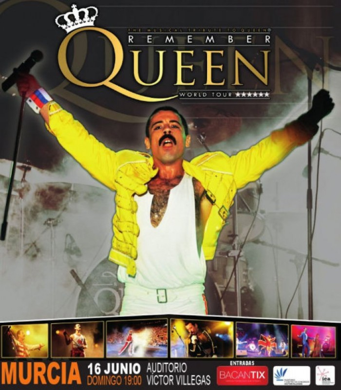 16th June, Remember Queen tribute show at the Auditorio Víctor Villegas in Murcia