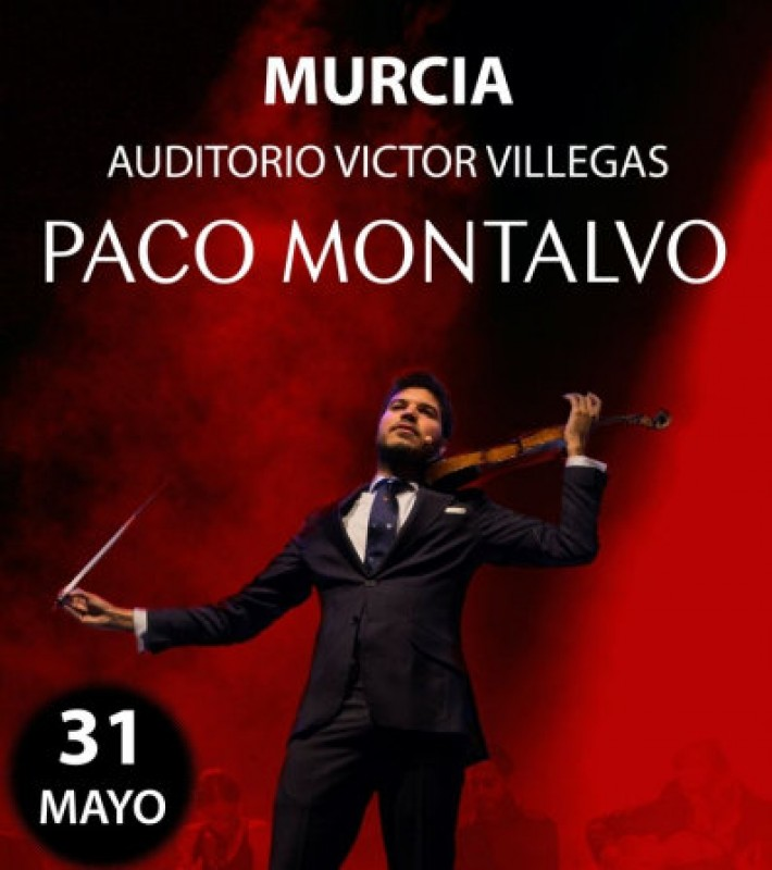 31st May, leading violinist Paco Montalvo at the Auditorio Víctor Villegas in Murcia