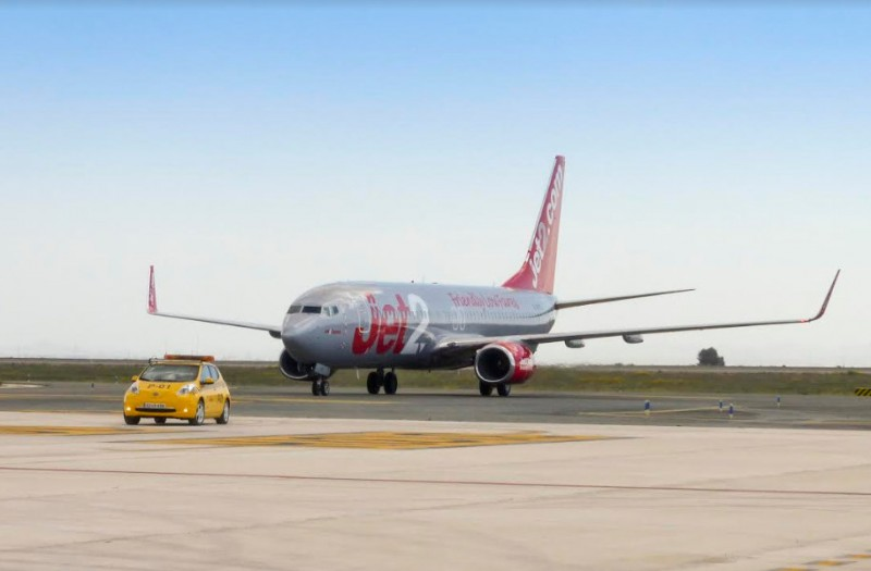<span style='color:#780948'>ARCHIVED</span> - Jet2 training flights at Corvera airport in preparation for summer services