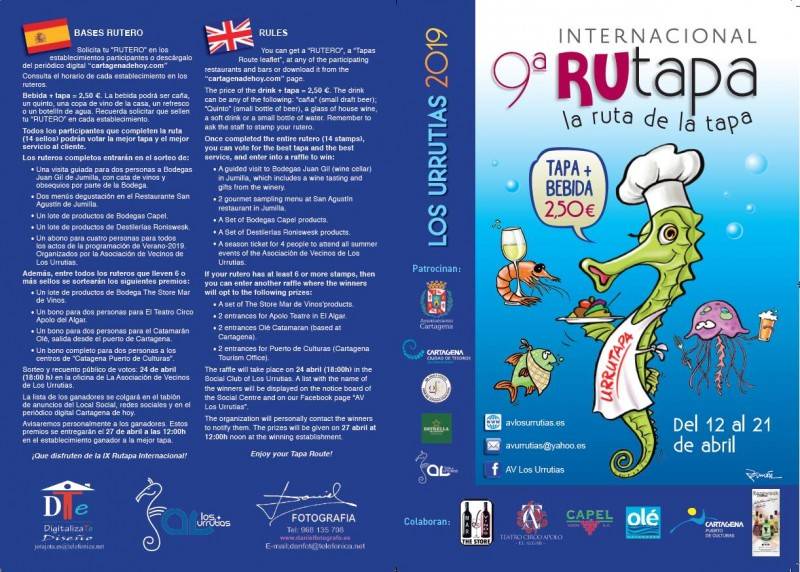 <span style='color:#780948'>ARCHIVED</span> - 12th to 21st April IX Rutapa Internacional in Los Urrutias
