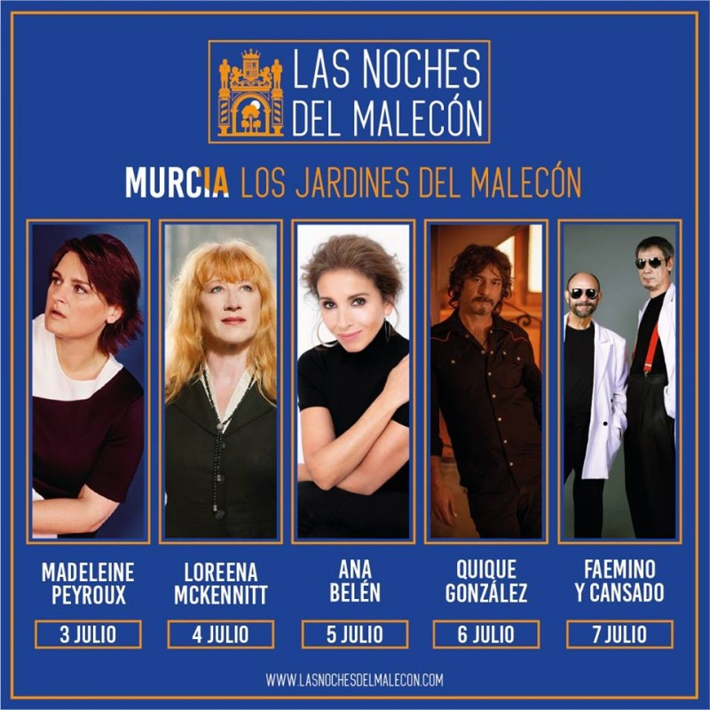 <span style='color:#780948'>ARCHIVED</span> - 3rd to 7th July, open-air concerts and comedy in the Malecón gardens in Murcia