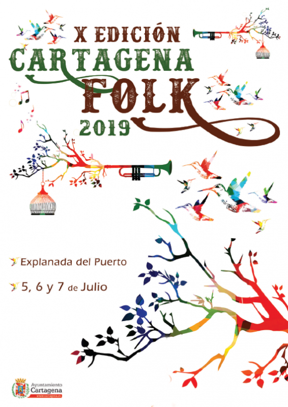<span style='color:#780948'>ARCHIVED</span> - 5th to 7th July Cartagena Folk Festival