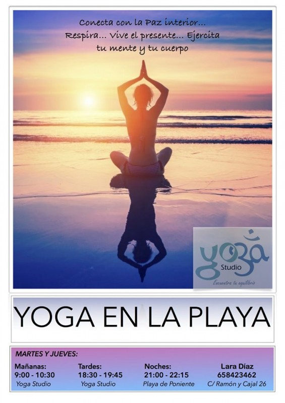 Yoga on the beach in Águilas Tuesdays and Thursdays