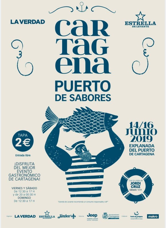 <span style='color:#780948'>ARCHIVED</span> - 14th to 16th June Gastrotapa in Cartagena with Cartagena Puerto de Sabores