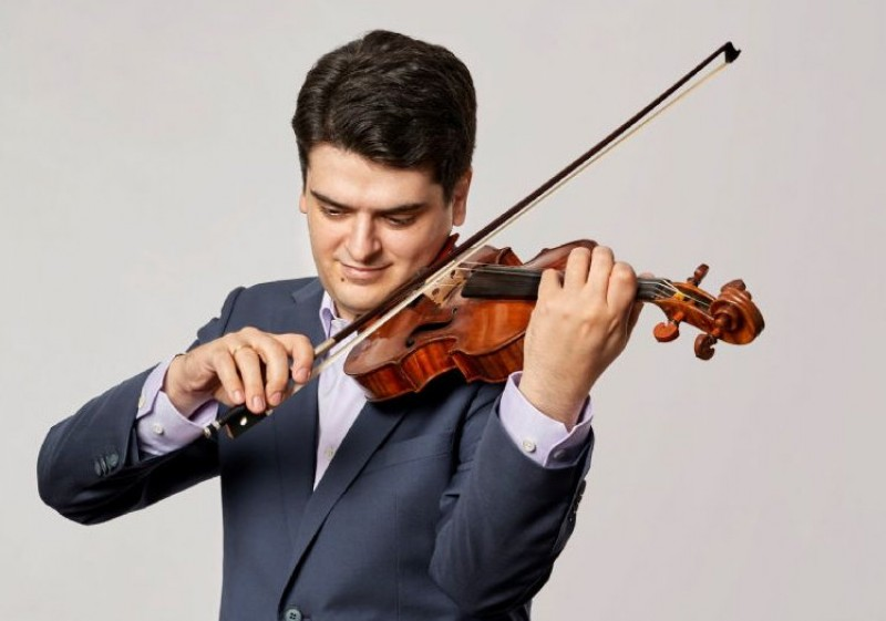 13th March 2020 violinist Michael Barenboim and the Turin Radio Orchestra at the Auditorio Víctor Villegas in Murcia