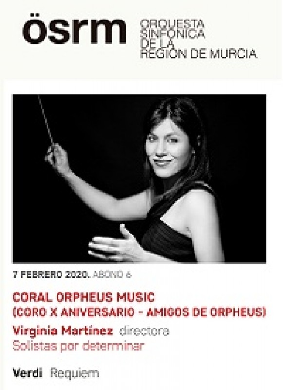 <span style='color:#780948'>ARCHIVED</span> - 7th February 2020 Verdi's Requiem at the Auditorio Víctor Villegas in Murcia