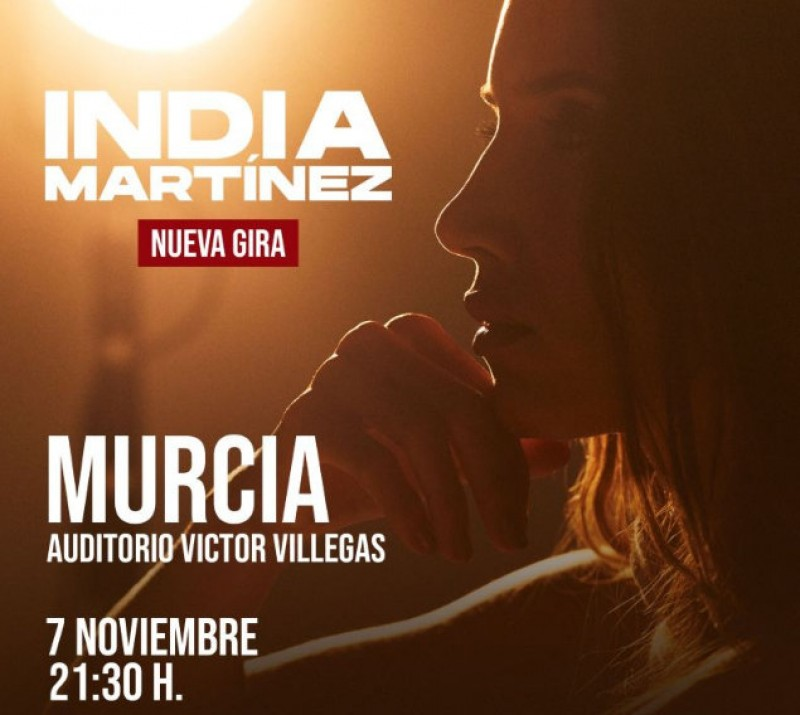 <span style='color:#780948'>ARCHIVED</span> - 10th December, India Martínez live in concert at the Auditorio Víctor Villegas in Murcia