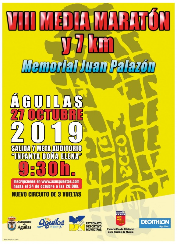 <span style='color:#780948'>ARCHIVED</span> - Sunday 27th October: VIII Águilas Half Marathon and 7km race