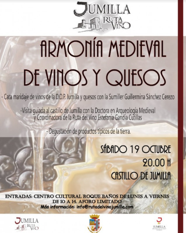 <span style='color:#780948'>ARCHIVED</span> - 19th October, cheese and wine tasting at the castle of Jumilla