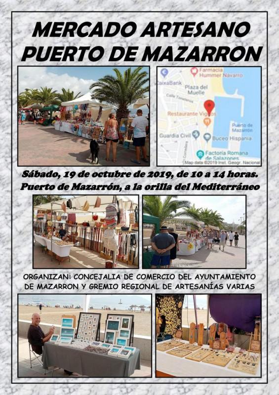 <span style='color:#780948'>ARCHIVED</span> - Saturday 19th October Puerto de Mazarrón, artisan market