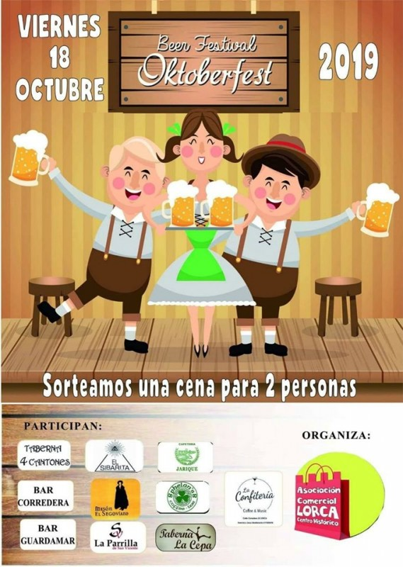 <span style='color:#780948'>ARCHIVED</span> - Friday 18th October; Lorca Oktoberfest Beer Festival