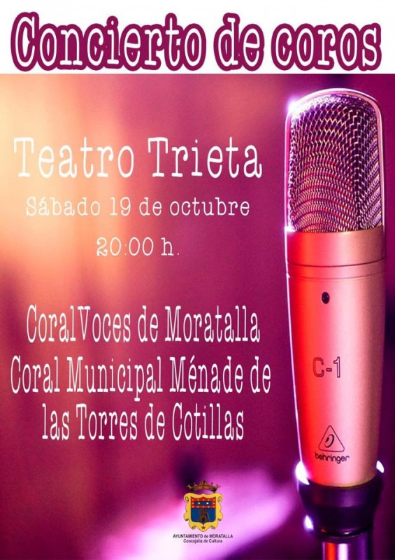 <span style='color:#780948'>ARCHIVED</span> - Saturday 19th October choral concert in Moratalla