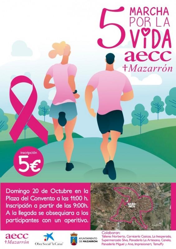 <span style='color:#780948'>ARCHIVED</span> -  Sunday 20th October Mazarrón AECC Marcha por la vida
