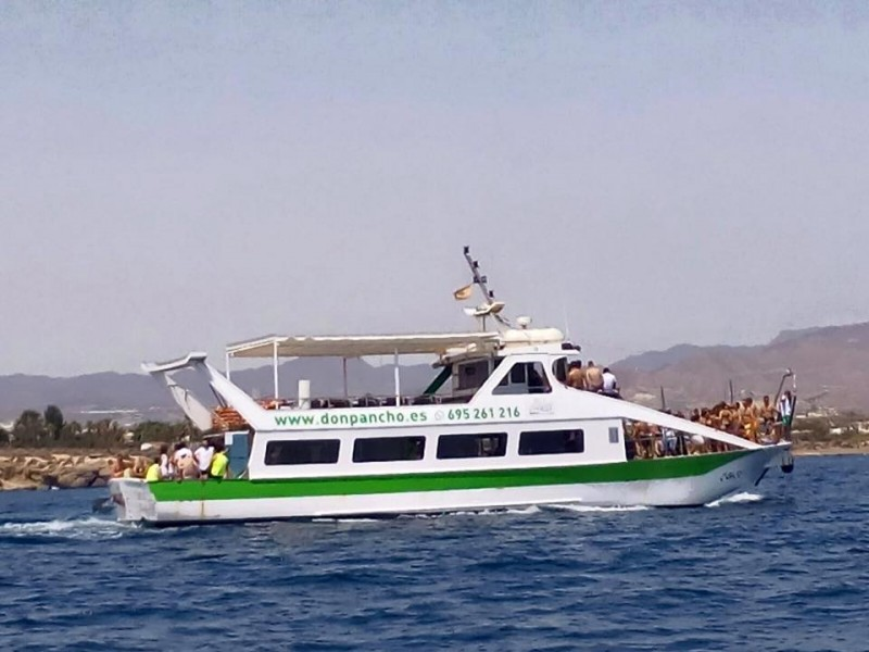 25 euros; Don Pancho boat trip, visit to Águilas castle with lunch included