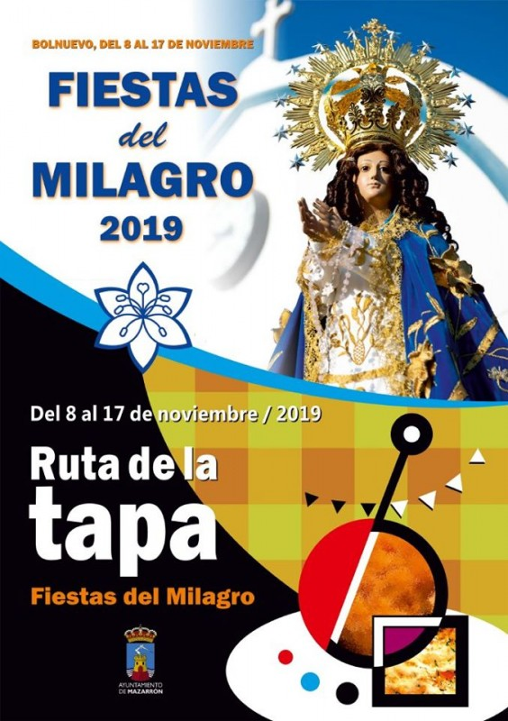 <span style='color:#780948'>ARCHIVED</span> - 8th to 17th November 2019, annual Fiestas del Milagro in Bolnuevo, Mazarrón