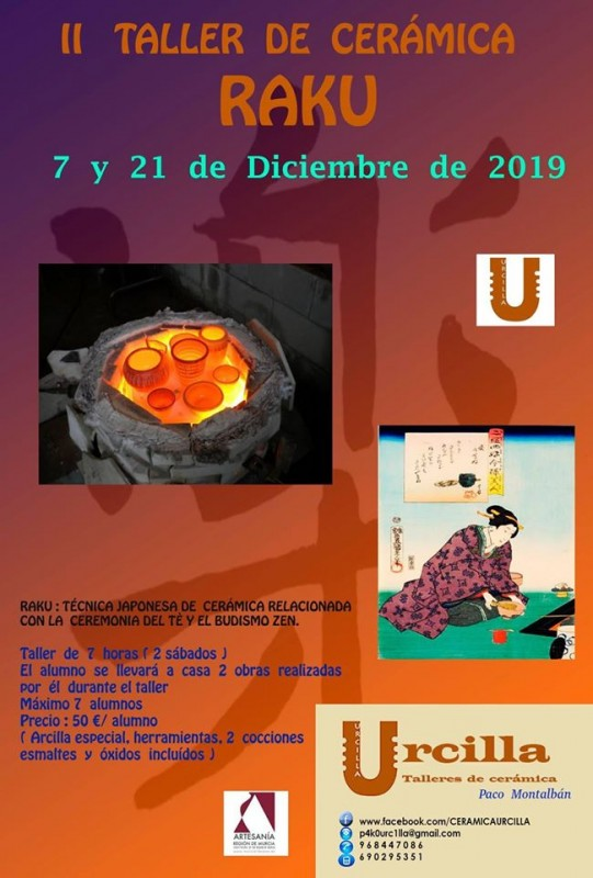 <span style='color:#780948'>ARCHIVED</span> - 7th and 21st December Raku workshop with Urcilla ceramics in Águilas