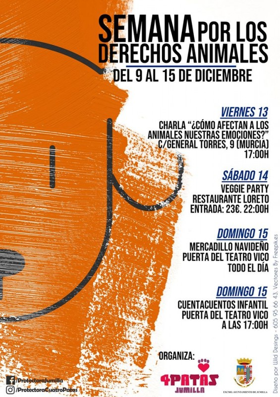 <span style='color:#780948'>ARCHIVED</span> - 13th to 15th December Animal rights week in Jumilla including solidarity market