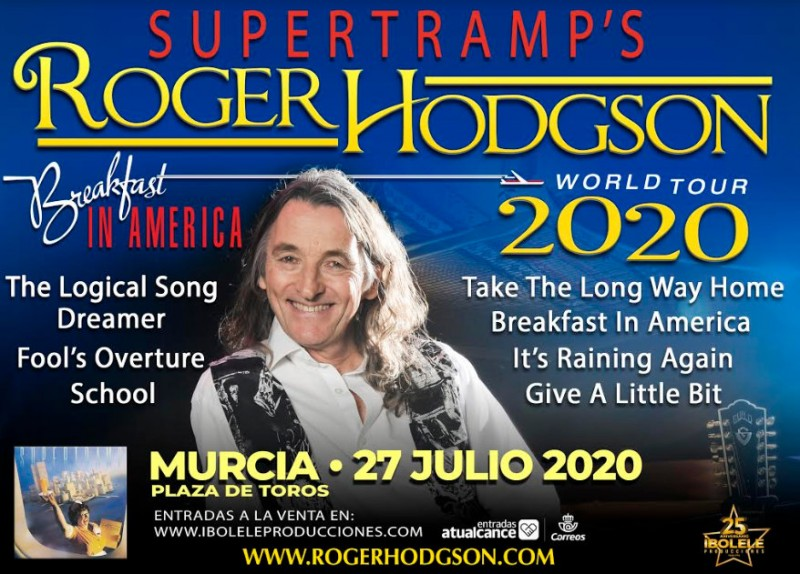 27th July, Roger Hodgson of Supertramp in concert in Murcia