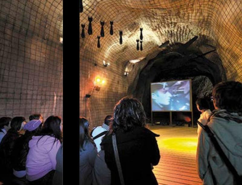 The Civil War air raid shelter museum in Cartagena