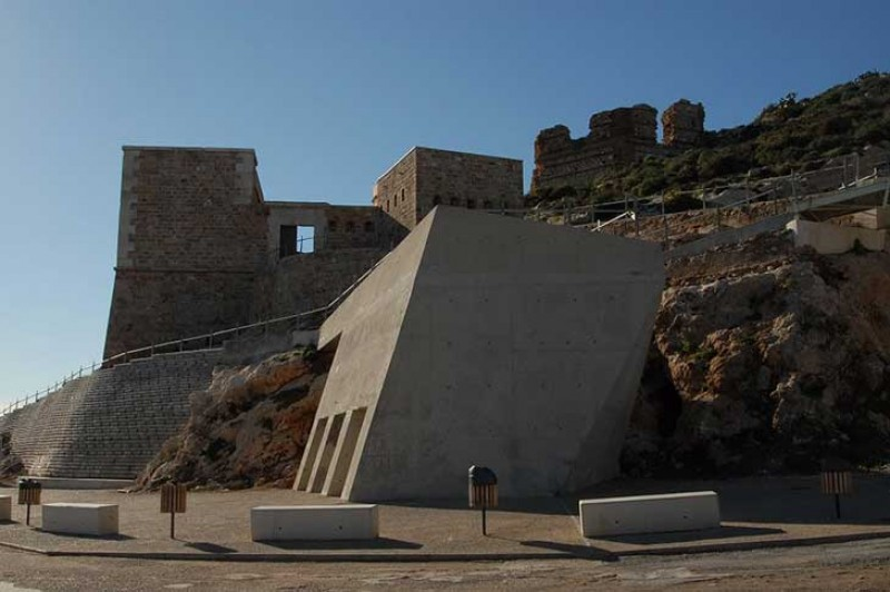The Fuerte de Navidad, a well-preserved 18th century military fortress in the bay of Cartagena