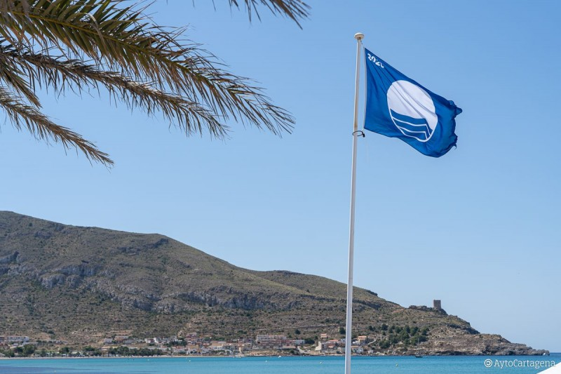 Blue Flag beaches in the municipality of Mazarrón 2020