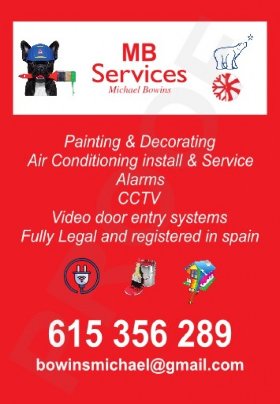 MB Services for air conditioning and home security in the Costa Cálida