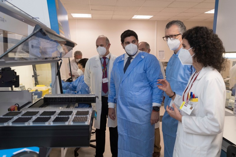 <span style='color:#780948'>ARCHIVED</span> - New machine capable of undertaking 6,000 PCR tests a day arrives in Murcia