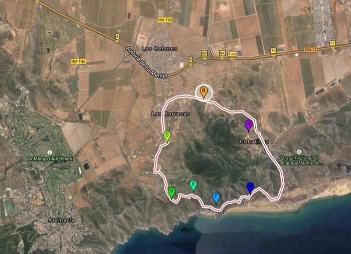 8km, Geological walk, Cabezo de la Fuente in the Calblanque regional park