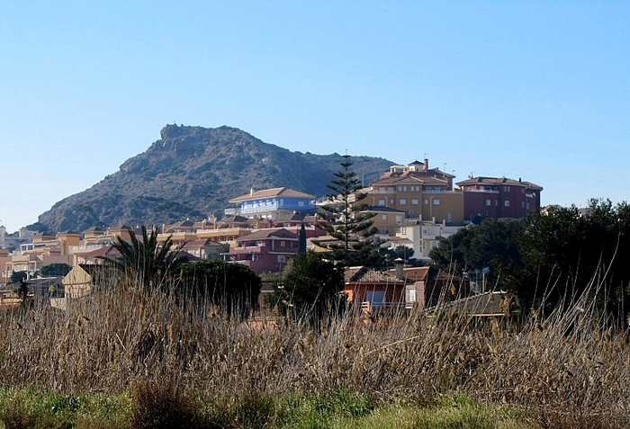 The volcano of El Carmoli on the shore of the Mar Menor