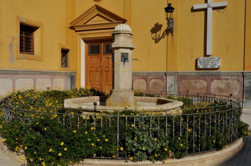 The Iglesia de las Tres Avemarías in Totana