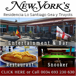 New Yorks Bar restaurant Banner